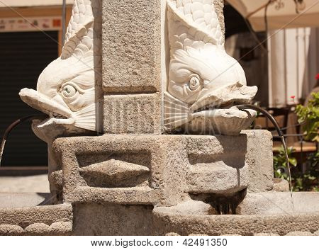 Fountain Fragment In Tropea
