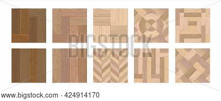Herringbone Floor. Realistic Wooden Laminate. Interior Flooring From Natural Timber. Decorative Hard