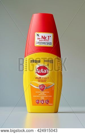Magdeburg, Germany - June 23, 2021: Autan Insect Repellent From The Family Company Sc Johnson & Son