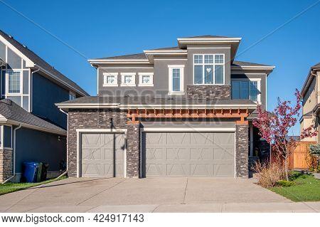 Beautiful Modern Suburban Home In Calgary, Alberta.