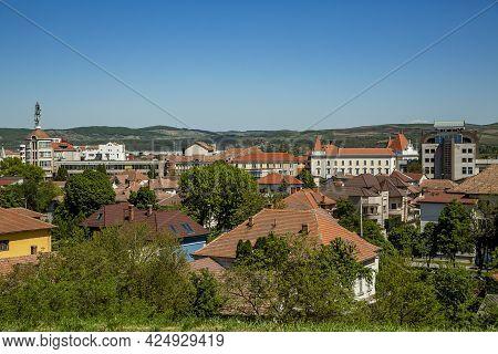 Alba Iulia, Alba, Romania -  May 11, 2021:  View Of Alba Iulia City From Transylvania, Romania
