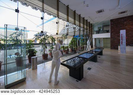 Mexico City - Jan. 15, 2020: Interior Of National Legislative Museum (spanish: Museo Legislativo Los