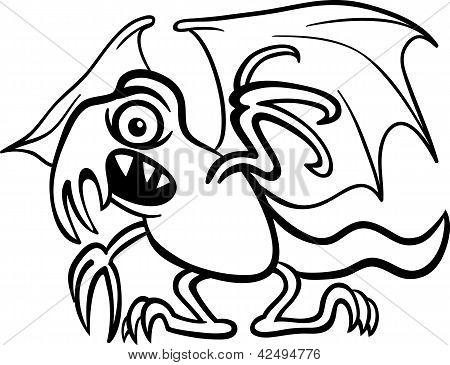 Basilisk Monster Cartoon For Coloring Book