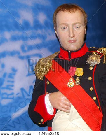London - England, Uk - August 8, 2015: Napoleon Life Size Wax Statue In Madame Tussauds Museum.