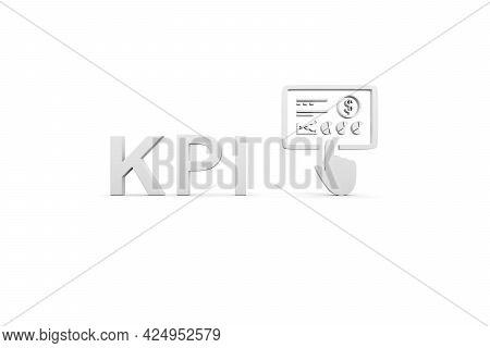 Kpi Concept White Background 3d Render Illustration