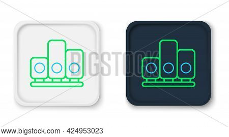 Line Ranking Star Icon Isolated On White Background. Star Rating System. Favorite, Best Rating, Awar