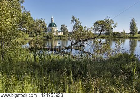 Moscow Region, Russia - June 10, 2021, Church Of Michael The Archangel In The Village Of Tarakanovo,