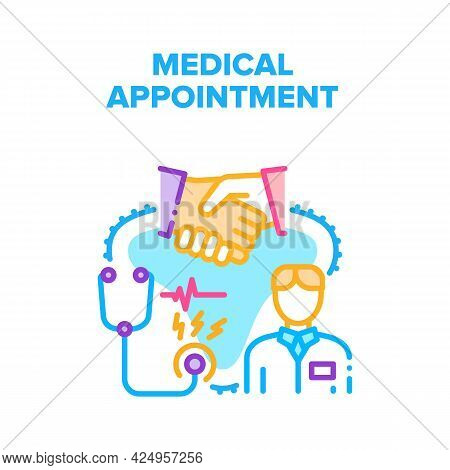 Medical Appointment Clinic Vector Icon Concept. Medical Appointment Clinic For Examination, Diagnosi