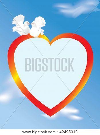 Vector love postcard
