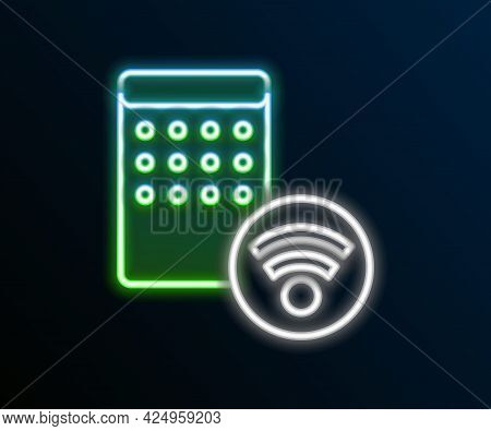 Glowing Neon Line Air Humidifier Icon Isolated On Black Background. Portable Electric Home Appliance