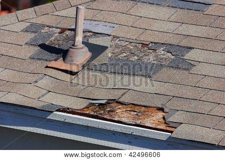 Danos de telhado