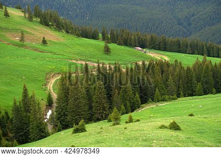 Beautiful mountain summer landscape of Parang Mountains in Romania