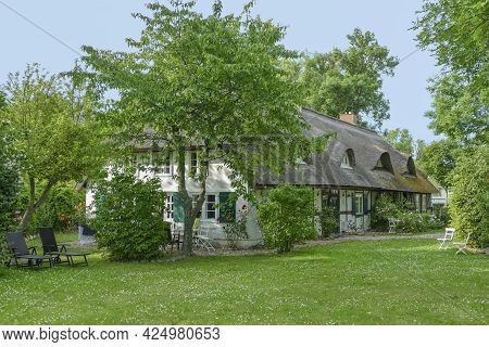 Idyllic Traditional House In Schaprode, A Municipality In The Vorpommern-rügen District In Mecklenbu