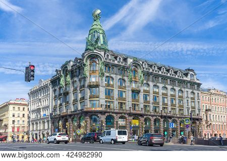 Saint Petersburg, Russia - June 06, 2021: View Of The Building Of The House Of Books (house Of The S