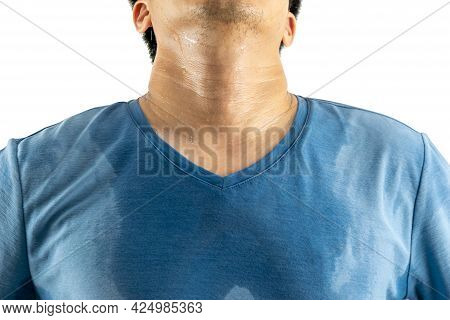 Armpit The Sweat And Male Body Odor White Background
