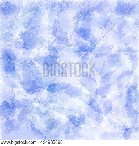 Abstract Watercolor Purple Background, Hand-painted Textures With Paint, Circles, Spots, Splashes, S