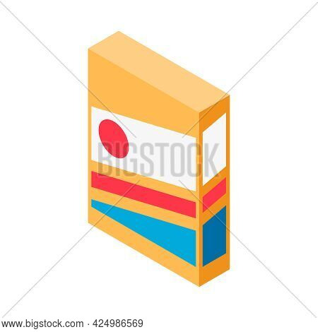 Isometric Icon With Colorful Cereal Food Package 3d Vector Illustration