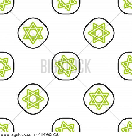 Line Tarot Cards Icon Isolated Seamless Pattern On White Background. Magic Occult Set Of Tarot Cards