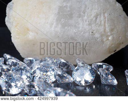 Close Up Shoot Of Shiny Diamonds