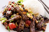 kung pao beef with rice poster