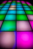 colorful square shape lighting of disco dance floor poster
