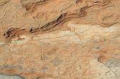 Soil detail in the Sossusvlei Namib desert. Namibia poster