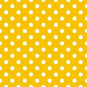 Seamless pattern with big white polka dots on a sunny yellow background. For cards, invitations, wedding or baby shower albums, backgrounds, arts, summer web design, desktop wallpaper and scrapbooks. poster