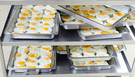 Preparation Served Is Fried Egg In Tray