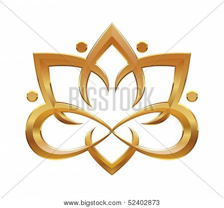 Lotus flower abstract symbol