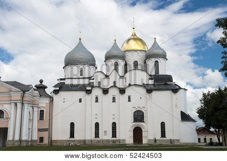 Sant Sophia Cathedral In Novgorod, Russia