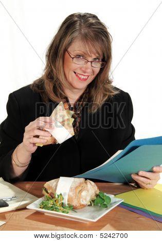 Businesswoman Lunch