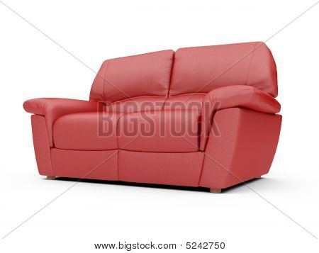 Sofa Over White