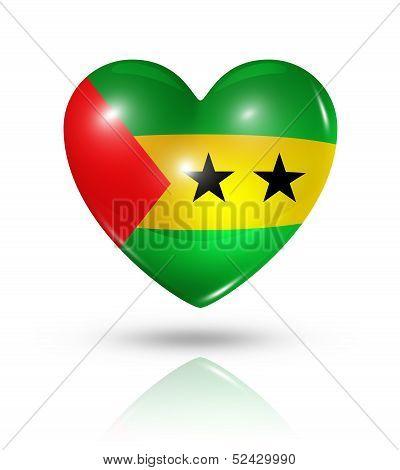 Love Sao Tome And Principe, Heart Flag Icon