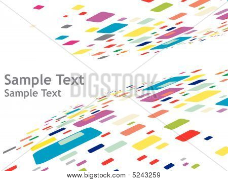 abstract mosaic vector composition with sample text vector illustration poster