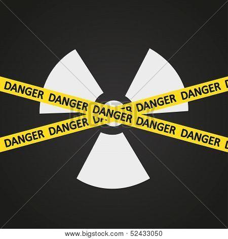 Vector illustration tape radiation hazard