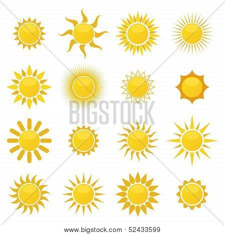 vector collection of sun icons