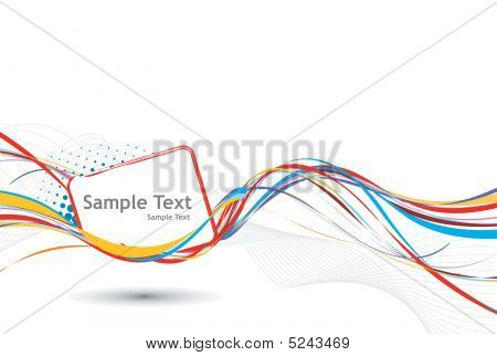 Rainbow Wave Line Background