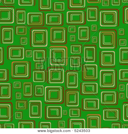 Seamless green background with squares. Vector illustration poster