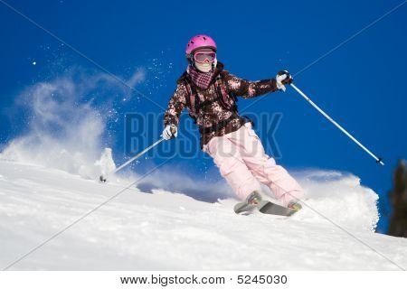 Riding On Skis