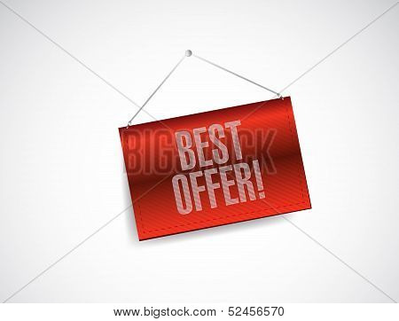 Best Offer Fabric Textured Hanging Banner