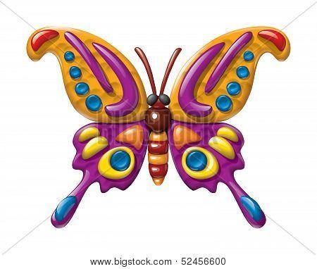 Plasticine butterfly