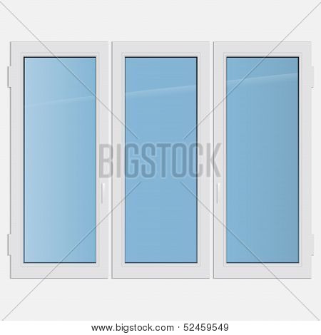 triple casement plastic window