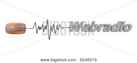Word Webradio With Orange Mouse