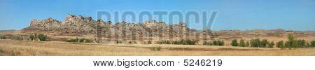 Ridge In Desert