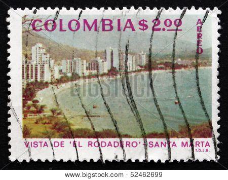 Postage Stamp Colombia 1975 El Rodadero, Santa Maria