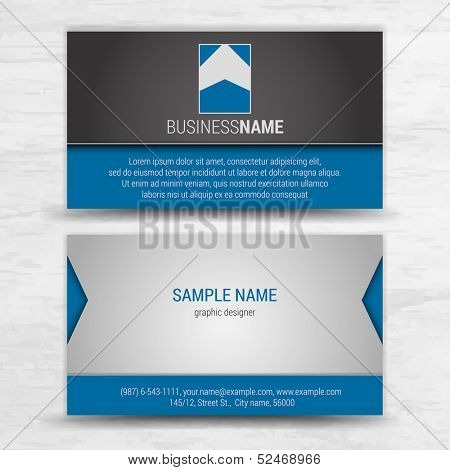 Vector creative business cards (set template)