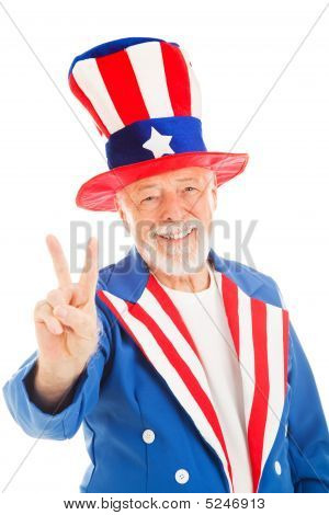 Uncle Sam - Peace Sign