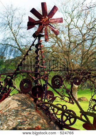 Metal Art Windmill
