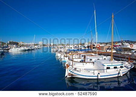Ibiza san Antonio Abad de Portmany marina port in Balearic Islands of spain