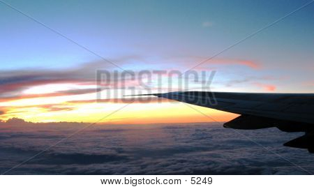 Plane Wing By Night